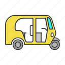 cycle, motor, rickshaw, transport, tricycle, tuk tuk, vehicle icon