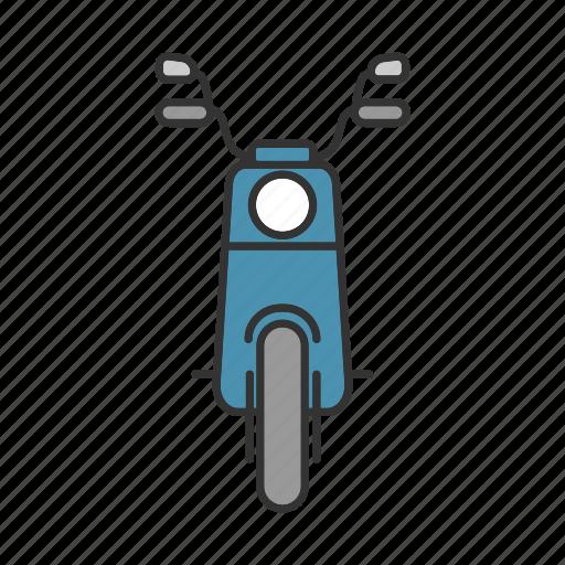 bike, motor, motorbike, motorcycle, scooter, transport, vehicle icon