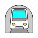 metro, railway, rapid transit, subway, train, transport icon