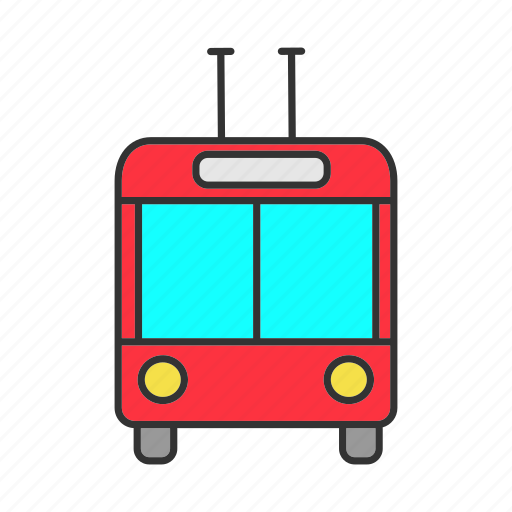 Bus, city, public, transport, trolley, trolleybus, vehicle icon - Download on Iconfinder