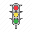 light, road, street, traffic, traffic lights, vehicle icon