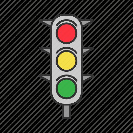 light, road, street, traffic, traffic lights, vehicle icon