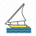 boat, felucca, regatta, sailboat, sailing, ship, yacht icon