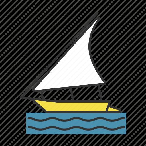 boat, felucca, regatta, sailboat, sailing, ship, yacht icon