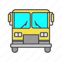 automobile, bus, car, city, public, transport, vehicle icon