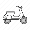 bike, motor, motorbike, motorcycle, scooter, transport, vehicle icon
