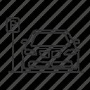 automobile, car, p sign, parking, place, vehicle, zone icon