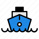 boat, ferry, ship, transportation, vehicle, water icon
