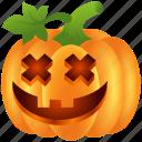food, halloween, lantern, pumpkin, scary, smile, vegetable icon