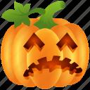 bad, food, halloween, lantern, pumpkin, scary, vegetable icon