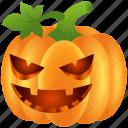 angry, food, halloween, lantern, pumpkin, scary, vegetable icon