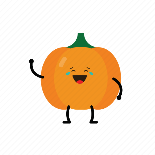 action, character, cute, emoticon, pumpkin, toy icon