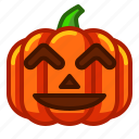 emoji, emoticon, fun, halloween, lantern, pumpkin, spooky icon