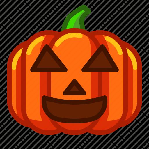 emoji, emoticon, halloween, lantern, pumpkin, smile, spooky icon