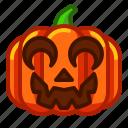 clown, emoji, emoticon, halloween, lantern, pumpkin, spooky icon