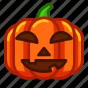 emoji, emoticon, emotion, halloween, lantern, pumpkin, spooky icon