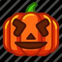 emoji, emoticon, funny, halloween, lantern, pumpkin, spooky icon