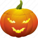 bat, ghost, halloween, pumpkin icon