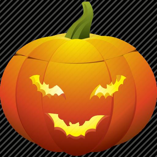 bat, ghost, halloween, pumpkin icon