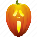 ghost, halloween, pumpkin, scary, scream icon