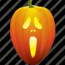 ghost, halloween, pumpkin, scary, scream icon