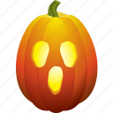 ghost, halloween, pumpkin, scream icon