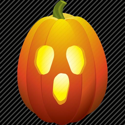 ghost, halloween, pumpkin, scream icon