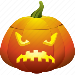angry, halloween, horror, jack o lantern, pumpkin, scary icon