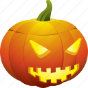 face, halloween, happy, pumpkin, side, smile, smiley icon
