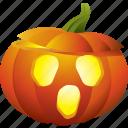 halloween, lamp, light, pumpkin, scary icon