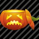 halloween, head, pumpkin, skull icon