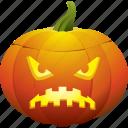 halloween, pumpkin, sad, ugly icon