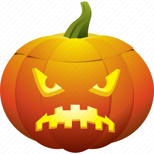 halloween, pumpkin, sad, ugly icon