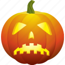 bad, halloween, pumpkin, sad, ugly icon