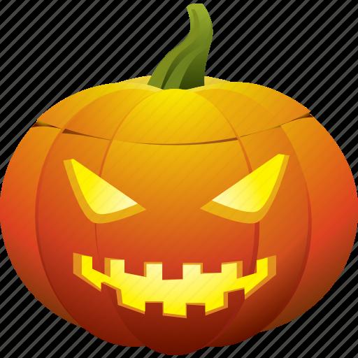ghost, halloween, jack o lantern, mad, mean, pumpkin icon