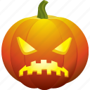 angry, bad, halloween, pumpkin, sad, ugly icon