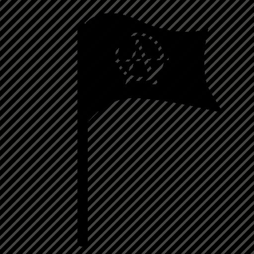 anarchy, festival, flag, music, punk icon