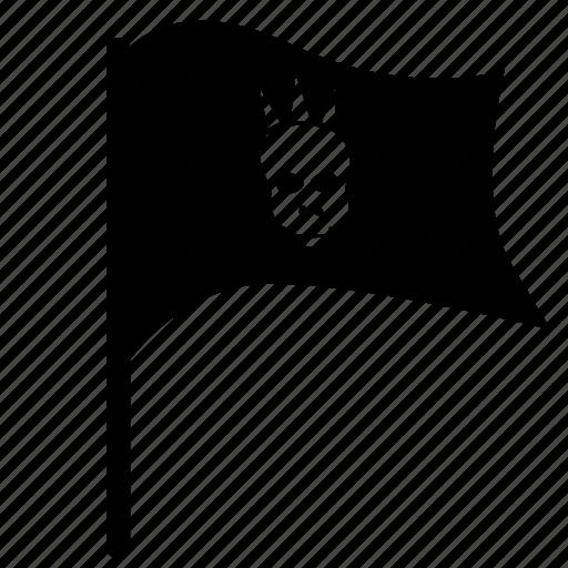 flag, head, music, punk, skull icon