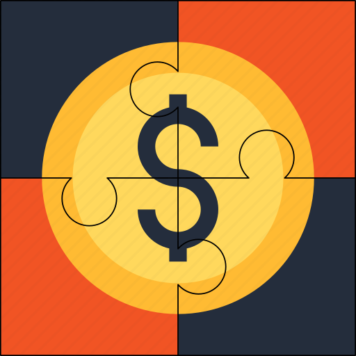 coin, financial, money, puzzle, solution icon