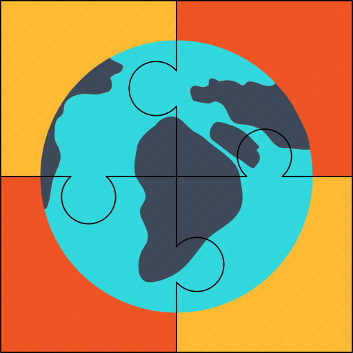 global, globe, planet, puzzle, solution, world icon