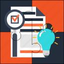 features, goal, idea, list, plan, puzzle, solution