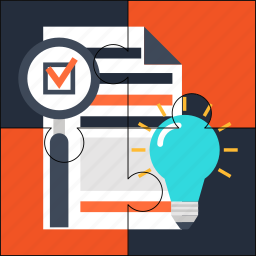 features, goal, idea, list, plan, puzzle, solution icon