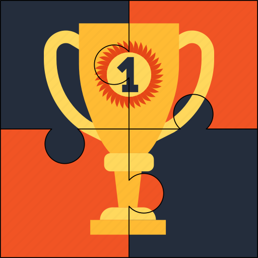 award, puzzle, solution, trophy, win, winner icon