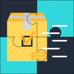 good, product, puzzle, release, solution icon