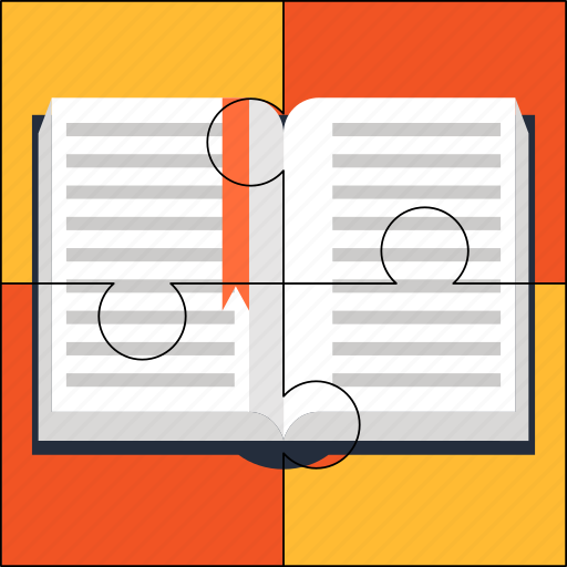 book, knowledge, learning, puzzle, school, solution icon