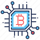 bitcoin, chip, cpu, precessor icon