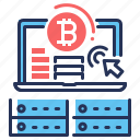 bitcoin, exchange, income, money icon
