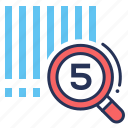 barcode, magnifier, scanning, search icon