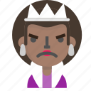 angry, costume, emoji, female, halloween, queen icon