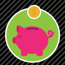 account, bank, guardar, home, money, save icon